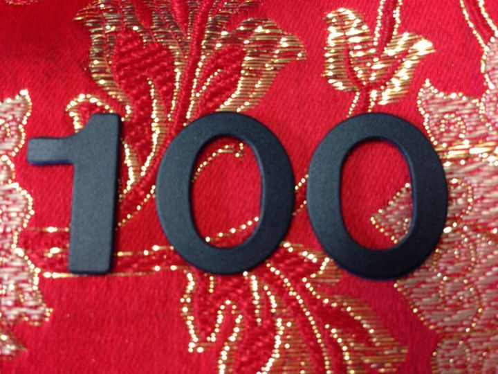 100いいね!達成。暑苦しいですが。