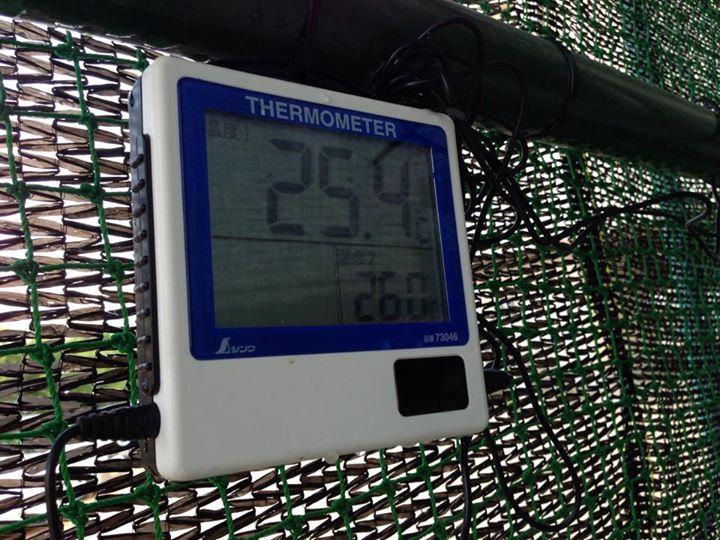 温度計を設置