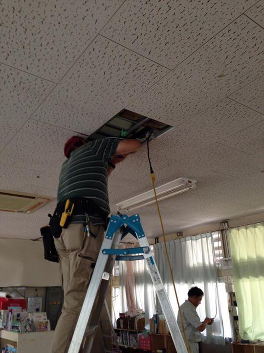 電気工事、夏休みに間に合った〜!